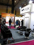 Fox exhibition stall. Event - Professional Beauty Expo 2015. Venue - Mumbai Date - 6th Oct 2015 royalty free stock photography