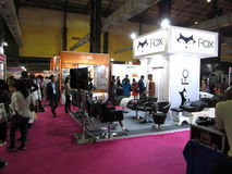 Fox exhibition stall. Event - Professional Beauty Expo 2015. Venue - Mumbai Date - 6th Oct 2015 royalty free stock image