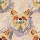 Fox eye cute seamless pattern Royalty Free Stock Images