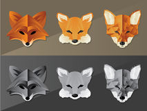 Fox Face Graphics royalty free illustration