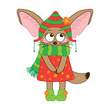 Fox Fennec Vector character on a white background. Stock Photos