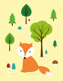 Fox in the forest Royalty Free Stock Photography