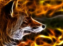 Fox fractal Royalty Free Stock Images