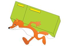 Fox with a fridge Stock Images