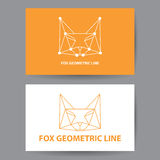 Fox geometric line Royalty Free Stock Image
