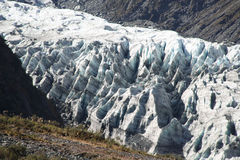 Fox Glacier. In Westland National Park on the West Coast of New Zealand's South Island Stock Images