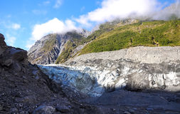 Fox Glacier. In Westland National Park on the West Coast of New Zealand s South Island  Southern Alps mountains Royalty Free Stock Photo