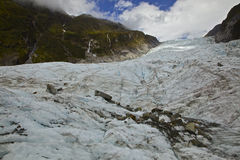 Fox Glacier. Taken on the glacier. On the South Island of New Zealand Stock Photography