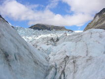 Fox Glacier. Climbing the Fox Glacier, New Zealand stock images
