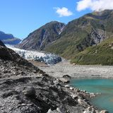 Fox Glacier. In Westland National Park on the West Coast of New Zealand's South Island. Square composition Stock Image