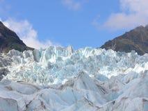 Fox Glacier. Ice sculptures of Fox Glacier, New Zealand stock images