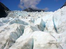 Fox Glacier. Ice sculpture, Fox Glacier, New Zealand stock image