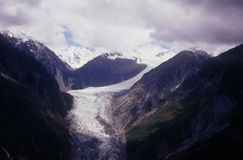 Fox Glacier. On New Zealand's South Island is one of the few glaciers in the world that is still advancing Royalty Free Stock Photo