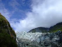Fox Glacier, condition in 2008, South island New Zealand. royalty free stock photos