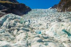 Fox Glacier Icefall. Blue Ice Of Fox Glacier Icefall, Southern Alps, Westland Tai Poutini National Park, South Island, New Zealand stock image