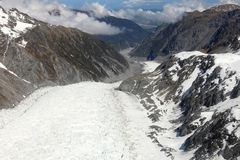 Fox glacier looking down from the top Royalty Free Stock Photos