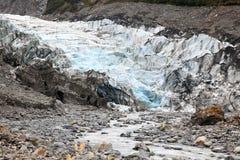 Fox glacier in New Zealand Stock Photos
