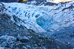 Fox glacier on New Zealand's south island Stock Photo