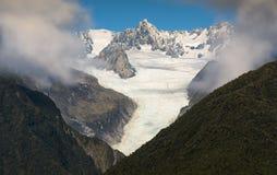 Fox glacier New Zealand scenic mountain landscape stock photo