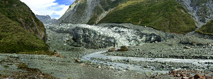 Fox Glacier, New Zealand. Fox Glacier in Westland National Park on the West Coast of New Zealand's South Island Stock Images