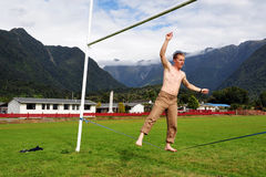 Tightrope walking Royalty Free Stock Photography