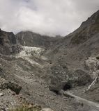 Fox Glacier in New Zealand. Fox Glacier in the South Island of New Zealand in retreat from the coast Stock Image