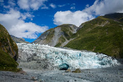 Fox Glacier terminal South Island New Zealand stock photography