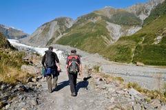 Fox Glacier trekking, New Zealand Stock Photos