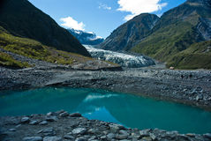 Fox Glacier in Westland National Park on the West Coast of New Z Royalty Free Stock Image