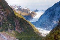 Fox-Gletscher lizenzfreies stockfoto