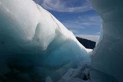 Fox-Gletschereishöhle Stockbilder