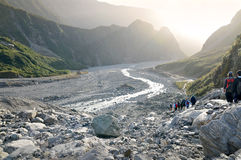 Fox-Gletschertrekking, Neuseeland Stockbild
