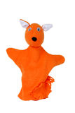 Fox hand puppet. Orange fox hand puppet isolated Stock Photo
