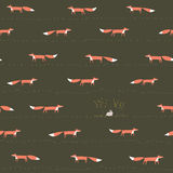 Fox and hare seamless pattern Royalty Free Stock Image