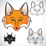 Fox head. Vector illustration of fox head in various color Vector Illustration