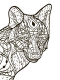 Fox head Coloring book vector for adults Royalty Free Stock Photos