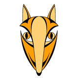Fox head face mask symmetrical Royalty Free Stock Photo