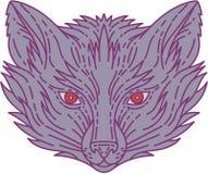 Fox Head Mono Line Stock Photos