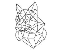 Fox head polygon  Stock Photo