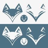 Fox head sign Royalty Free Stock Image