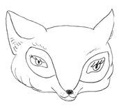 Fox head sketch Royalty Free Stock Photos