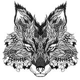 FOX head tattoo. psychedelic Stock Images