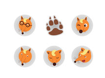 Fox Head vector Royalty Free Stock Images