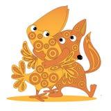 The fox hugs crow Royalty Free Stock Image