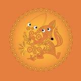 The fox hugs crow stock image