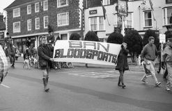 Fox hunting protest, England Stock Photo