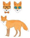 Fox i dwa głowy lis Obrazy Stock