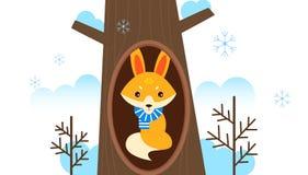 Fox i zima ilustracja wektor