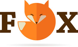 Fox icon, illustration and element Royalty Free Stock Photo