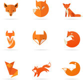 Fox icons, illustrations and elements Stock Image